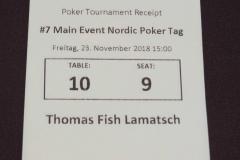 Nordic Poker Festival - Main Event Tag 1C - 23-11-2018